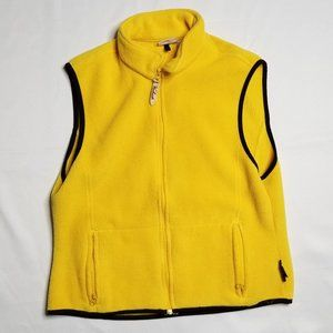 VINTAGE WOOLRICH yellow fleece vest
